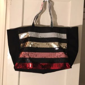 NWT- Victoria's Secret sequin tote